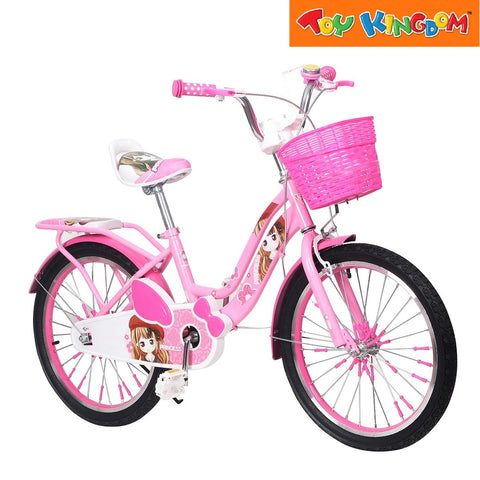 "BMX 20"" Smart Girl Bike With Basket (Pink) For Girls"