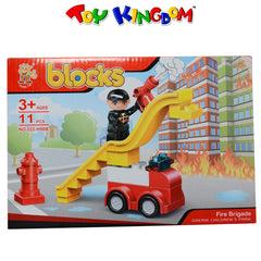 Blocks Fire Brigade 11-pc Blocks Playset for Kids