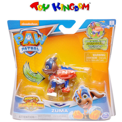 Nickelodeon Paw Patrol Mighty Pups Super Paws Zuma Figure for Kids