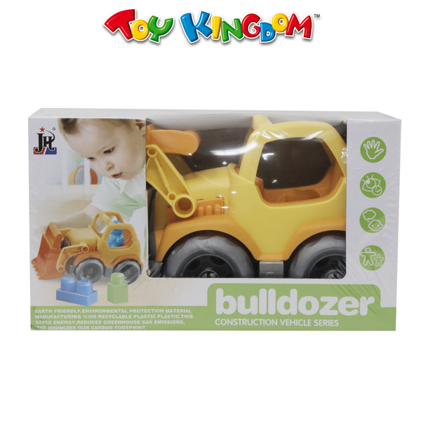 Construction Vehicle Series Bulldozer with Blocks 7pcs for Kids