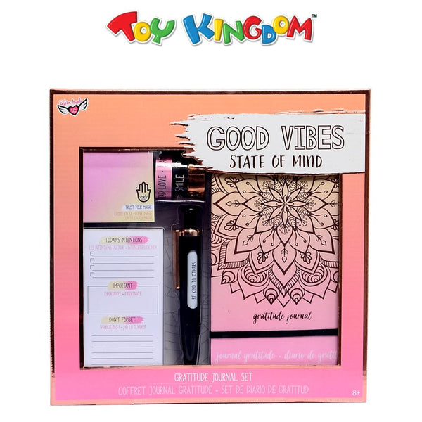 Fashion Angels Good Vibes State of Mind Gratitude Journal Set for Kids