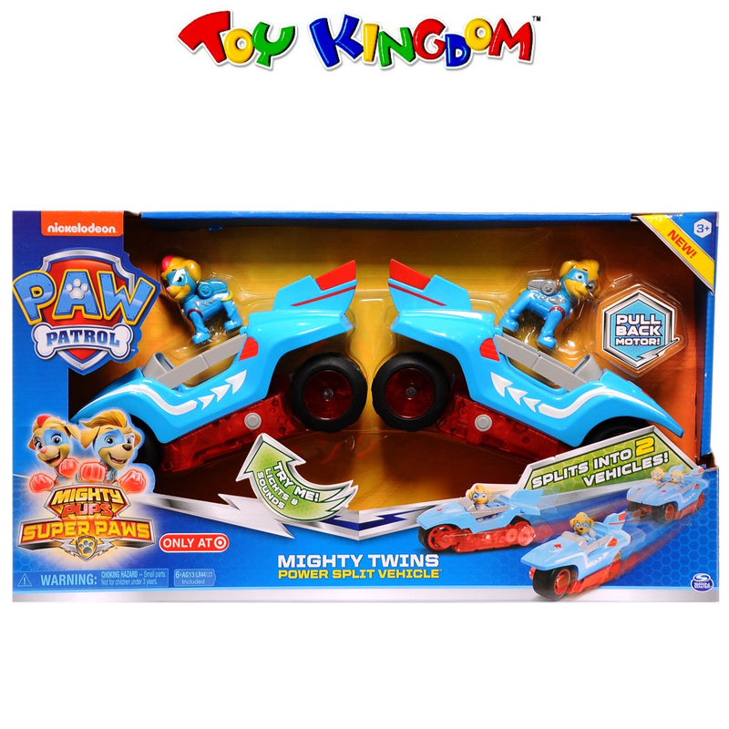 Nickelodeon Paw Patrol Mighty Pups Super Paws Mighty Twins Power Split Vehicle for Boys