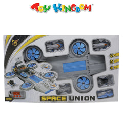 Space Union with Sound + 5 Cars for Kids