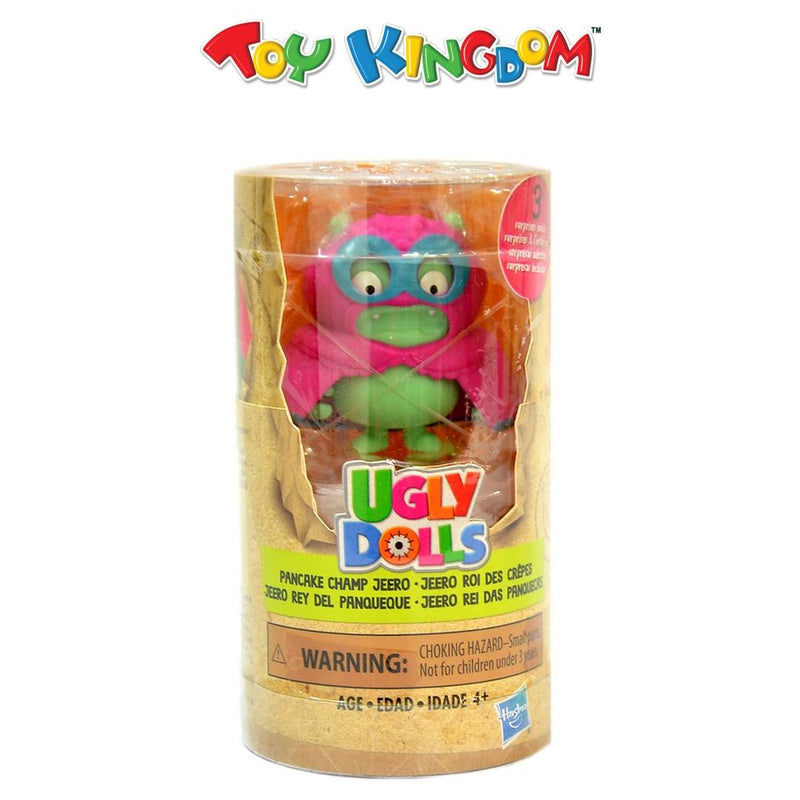 Ugly Dolls Surprise Disguise Pancake Champ Jeero Toy Figure and Accessories for Kids