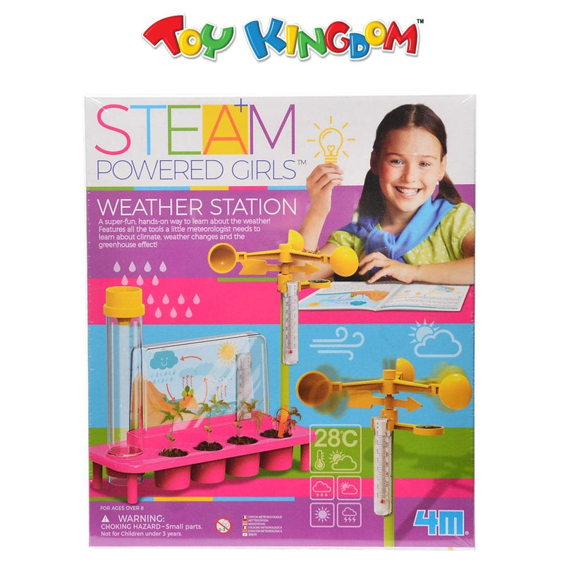 4M STEAM Powered Girls Weather Station Scientific Playset for Kids