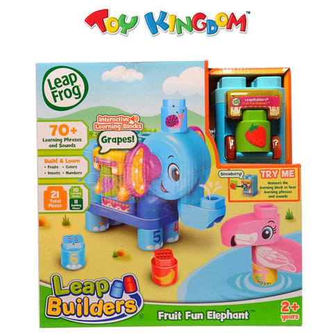LeapFrog Leap Builders Fruit Fun Elephant Building Blocks Toy for Toddlers