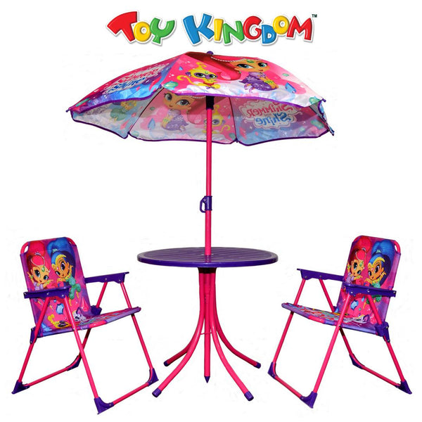 Shimmer and Shine Patio Set (Umbrella and Chairs)