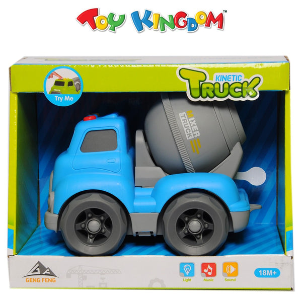Kinetic Truck Blue Mixer Truck with Lights and Sounds for Kids