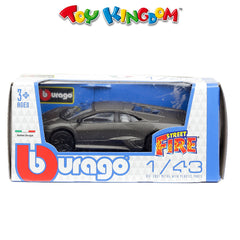 BBurago Street Fire Dark Grey Die-Cast Vehicle for Kids