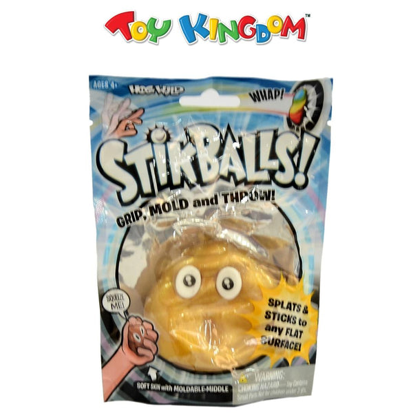 Hog Wild Stikballs! Sticky the Golden Poo Squishy Toy for Kids