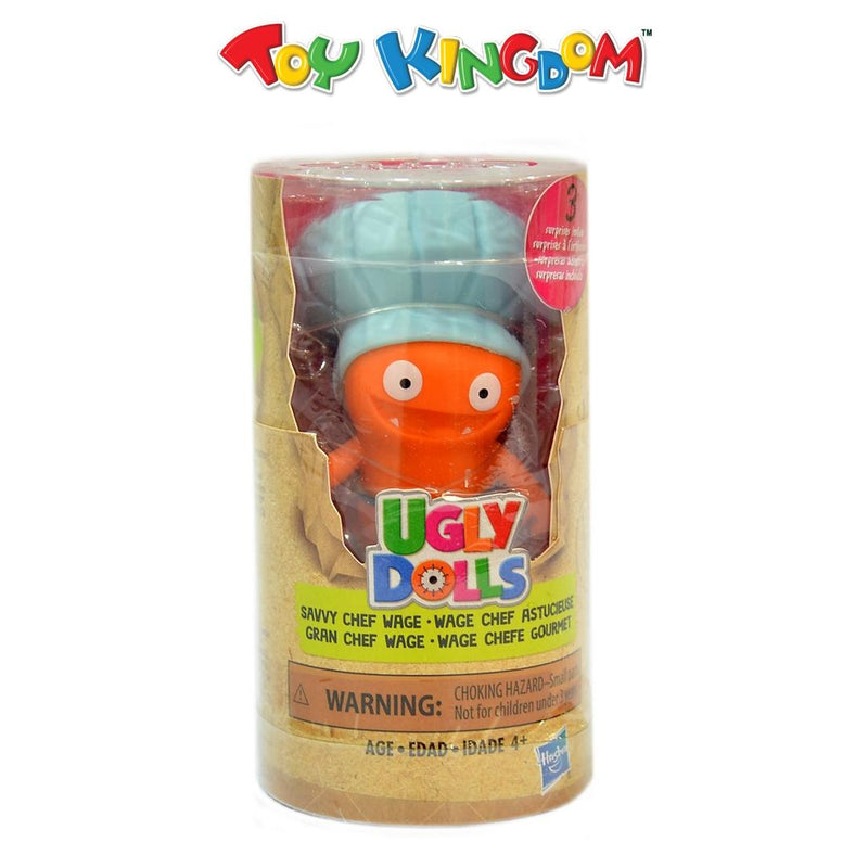 Ugly Dolls Disguise Savvy Chef Wage with Blue Chef Hat Toy Figure and Accessories for Kids