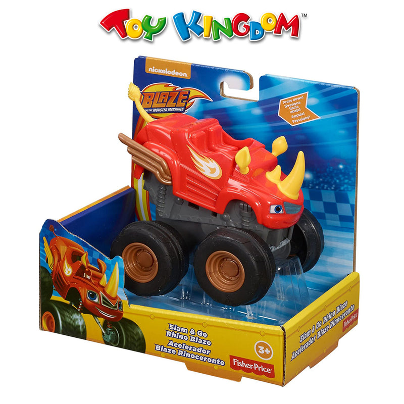 Nickelodeon Blaze And The Monster Machines Slam & Go Rhino Blaze for Kids