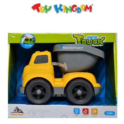 Kinetic Truck Yellow Dump Truck with Lights and Sounds for Kids