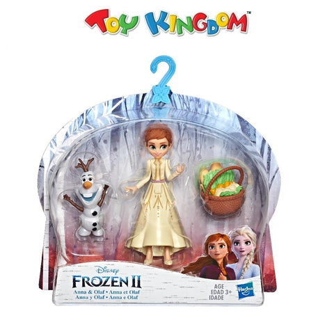 Disney Frozen 2 Anna & Olaf  Small Dolls with Basket for Kids