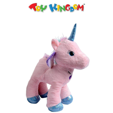 18-Inch Pink Unicorn with Heart Necklace Plush Toy