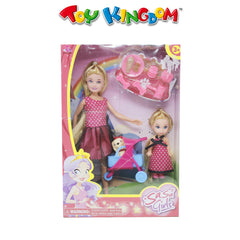 Sasa Girls Doll Playset w/ Pet Accessories for Girls