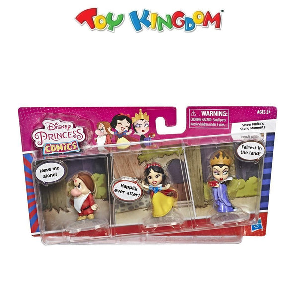 Disney Princess Comics Dolls Snow White's Story Moments Number 1 Wish with Evil Queen and Grumpy Toy for Kids