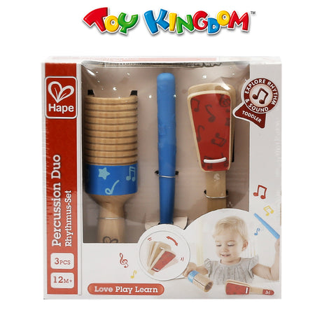 Hape Wooden Percussion Duo Rhythmus-Set for Toddlers