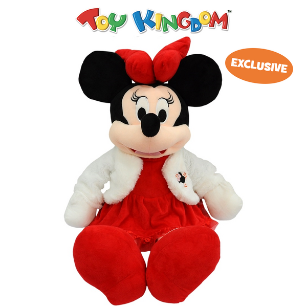Disney Minnie Mouse 24-Inch Minnie Mouse with White Fur Coat Plush Toy for Kids