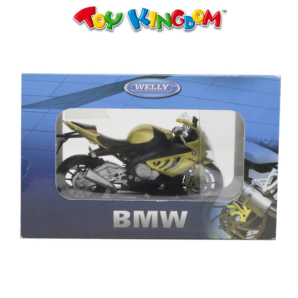 Welly BMW S 1000 RR Diecast Motorcycle Gold for Kids