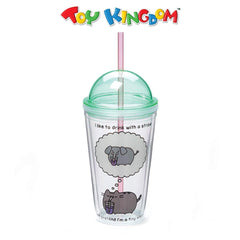 Pusheen Tumbler with Straw