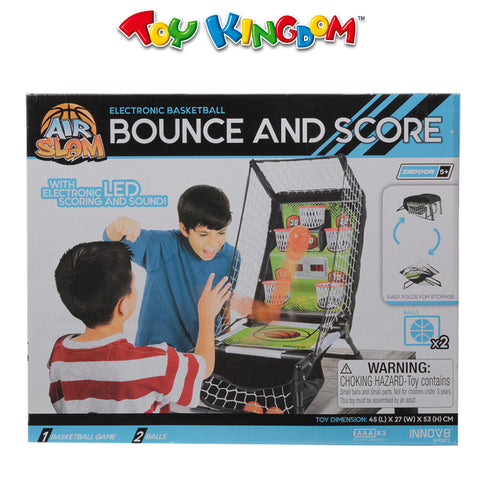 Air Slam Electronic Basketball Bounce and Score Playset for Kids