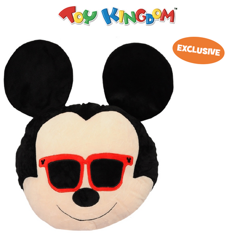 Disney Mickey Mouse 16-Inch Mickey Mouse with Shades Emoji Head Pillow for Kids