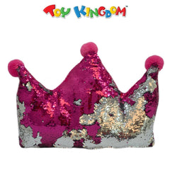 Pink Crown Sequin Pillow