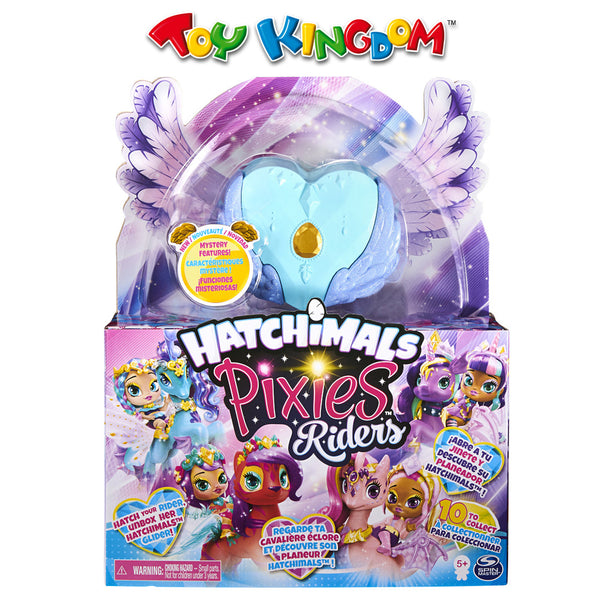 Hatchimals Mini Pixies Riders - Lagoon Lily Pixie and Seastallion Glider Toy for Girls