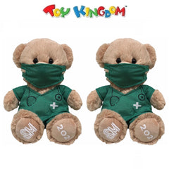 Bears of Joy - Kit the Doctor Bear in Green Scrub Suit Uniform with Face Mask