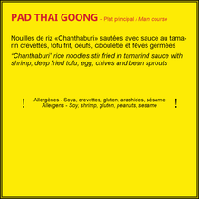Load image into Gallery viewer, Pad Thai Goong (crevettes)
