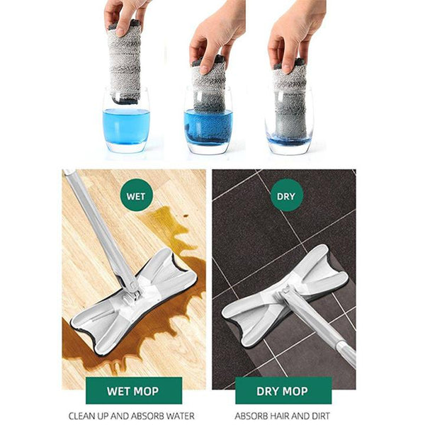 Foldable Microfiber Flat Mop - household-ideals