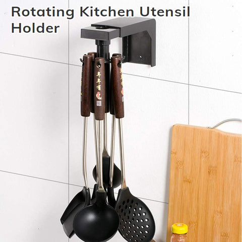 Rotating Kitchen Utensil Holder - household-ideals