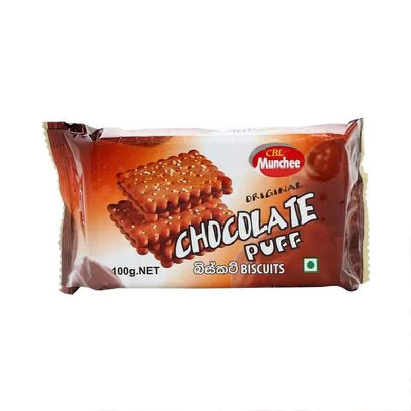 Munchee Chocolate Puff Biscuits 100g