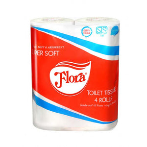 Flora Toilet Tissues 4 Rolls Pack
