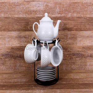 Tea Set with Rack