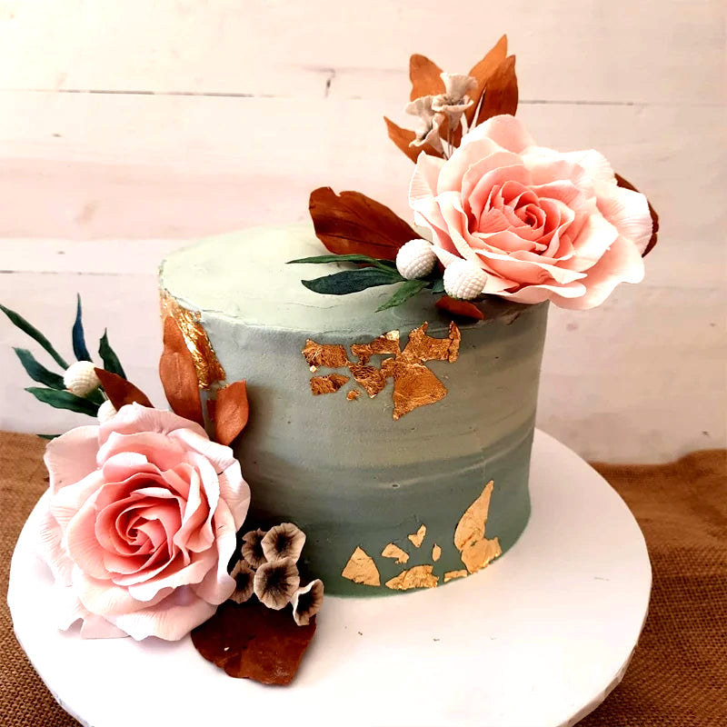 Ribbon Cake with Butter Cream & Sugar Flowers 2kg