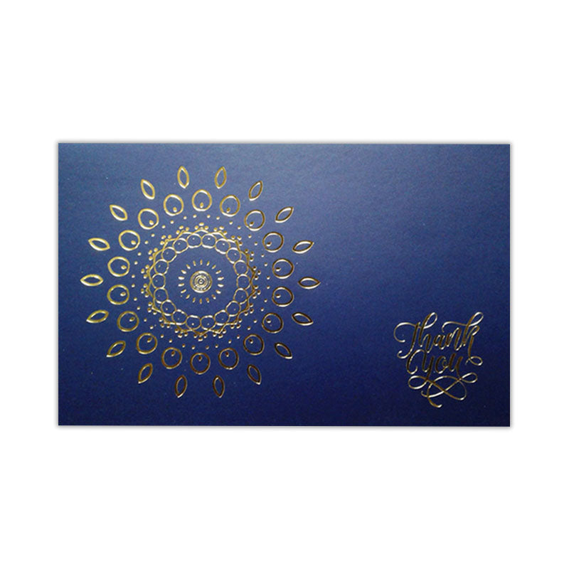 Thank You Card - Gold Point