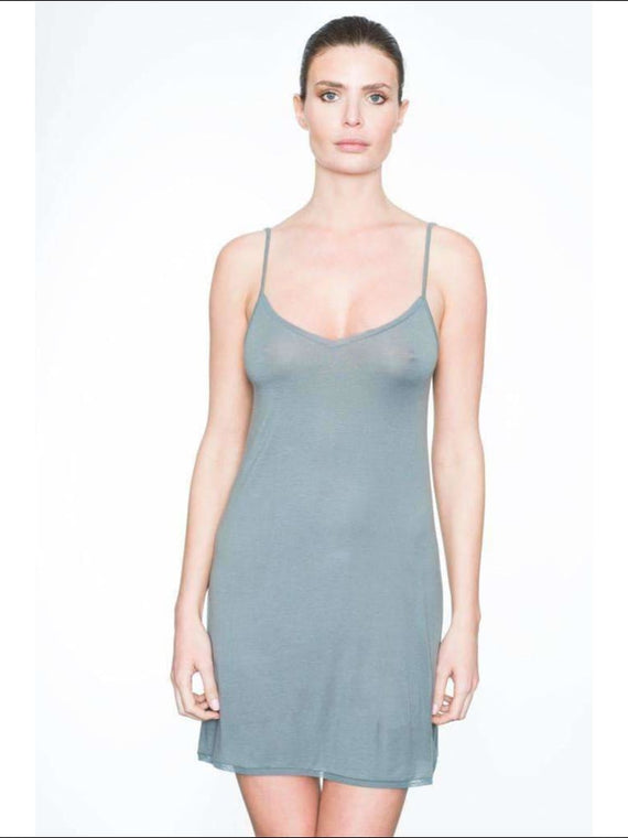 Addiction Douceur Camisole Dress - Grey / Xs - One Piece Lingerie Theory Lingerietheory.com
