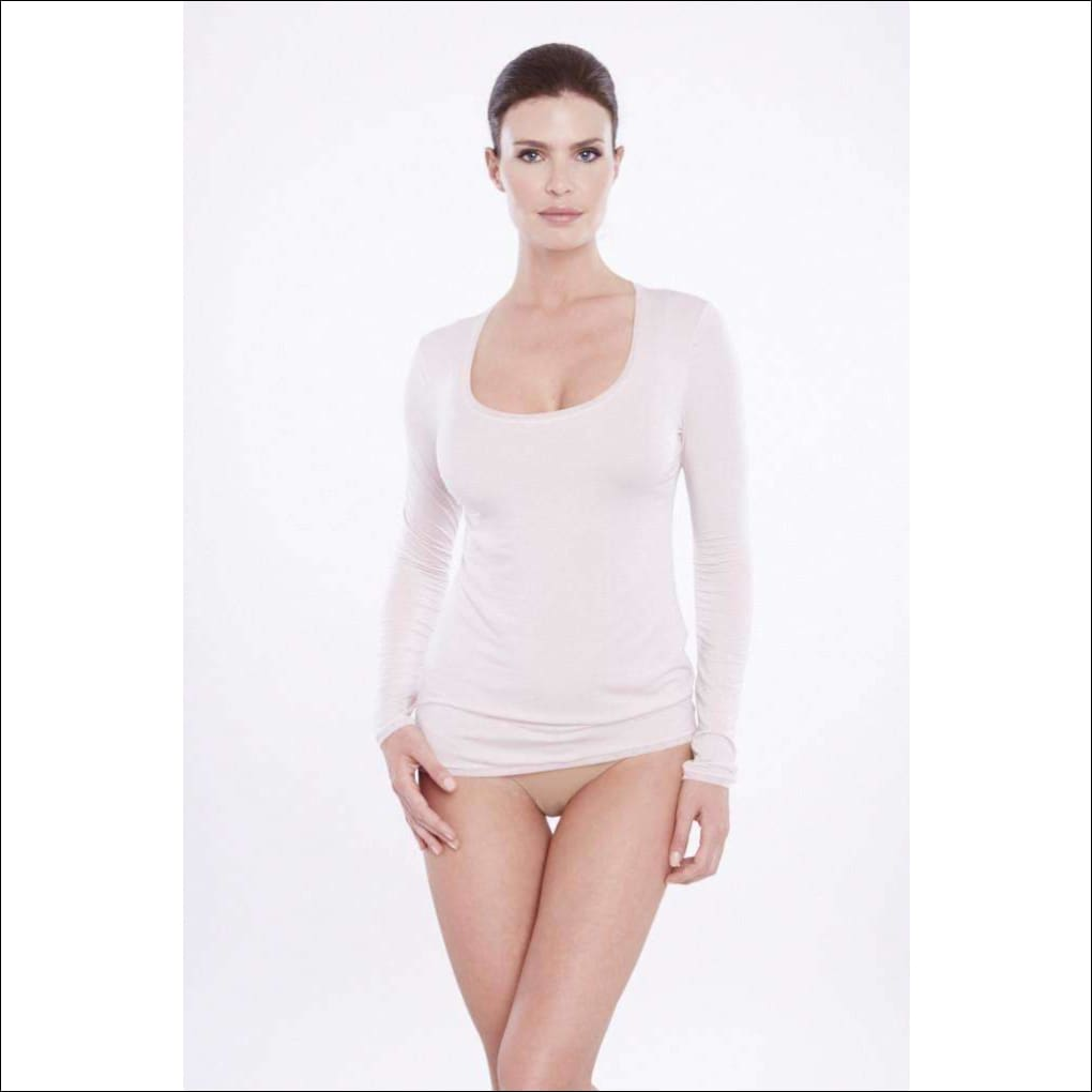 Addiction Douceur Long Sleeve Top - Blush / Xs - Top Lingerie Theory Lingerietheory.com