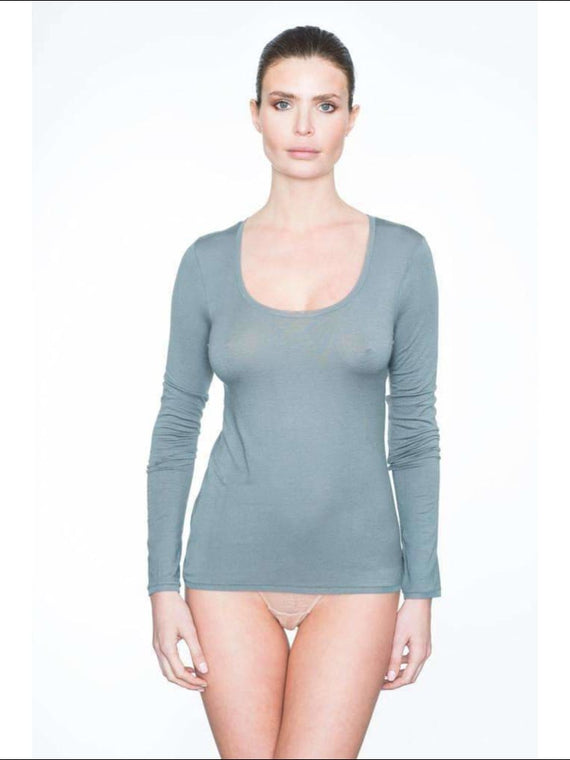 Addiction Douceur Long Sleeve Top - Grey / Xs - Top Lingerie Theory Lingerietheory.com