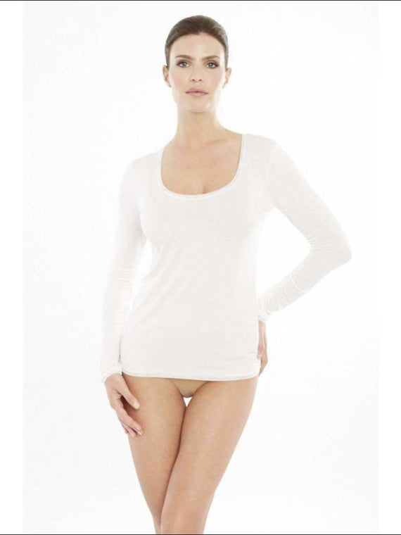 Addiction Douceur Long Sleeve Top - White / Xs - Top Lingerie Theory Lingerietheory.com