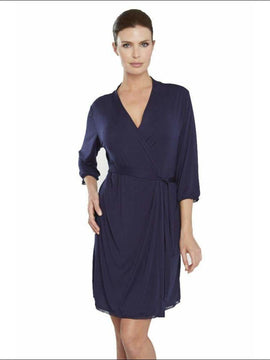 Addiction Douceur Robe - Navy / Xs - Robe Lingerie Theory Lingerietheory.com
