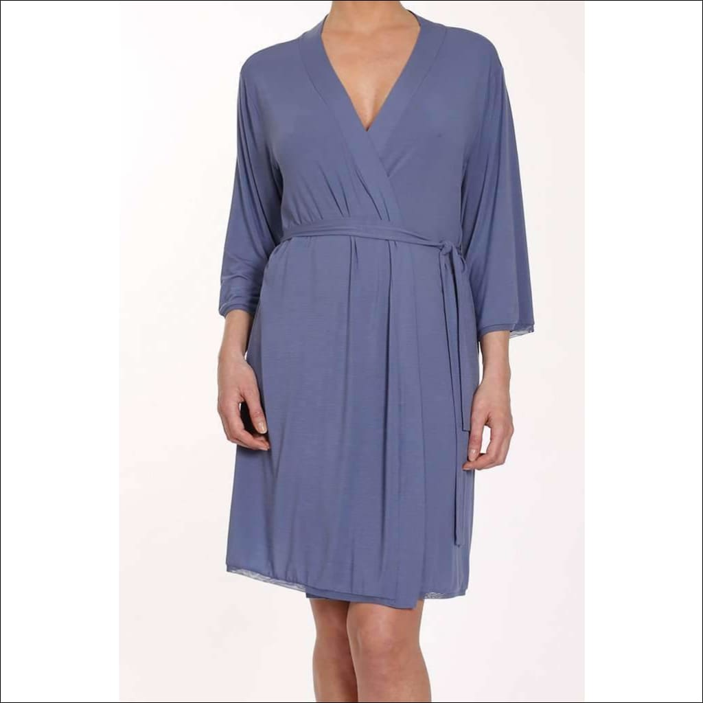 Addiction Douceur Robe - Periwinkle / S - Robe Lingerie Theory Lingerietheory.com