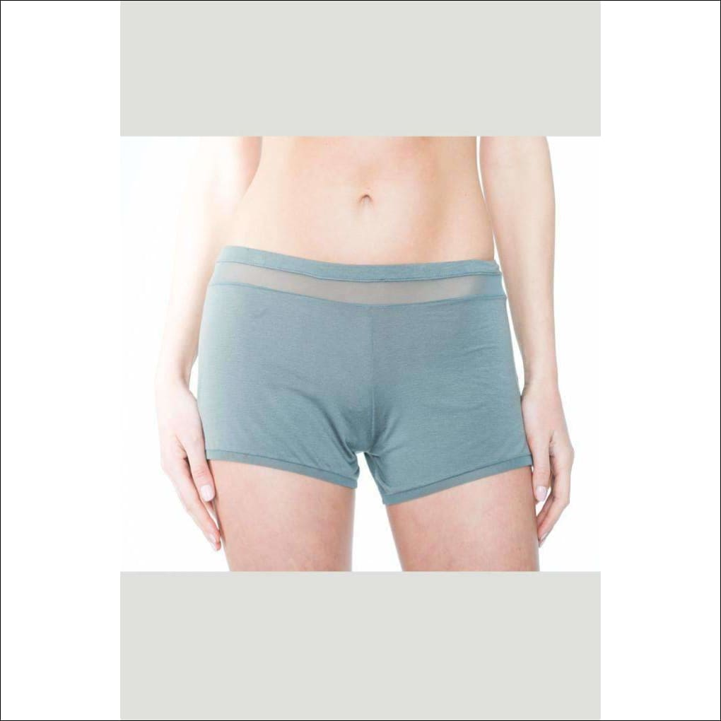 Addiction Douceur Shorts - Grey / Xs - Bottom Lingerie Theory Lingerietheory.com