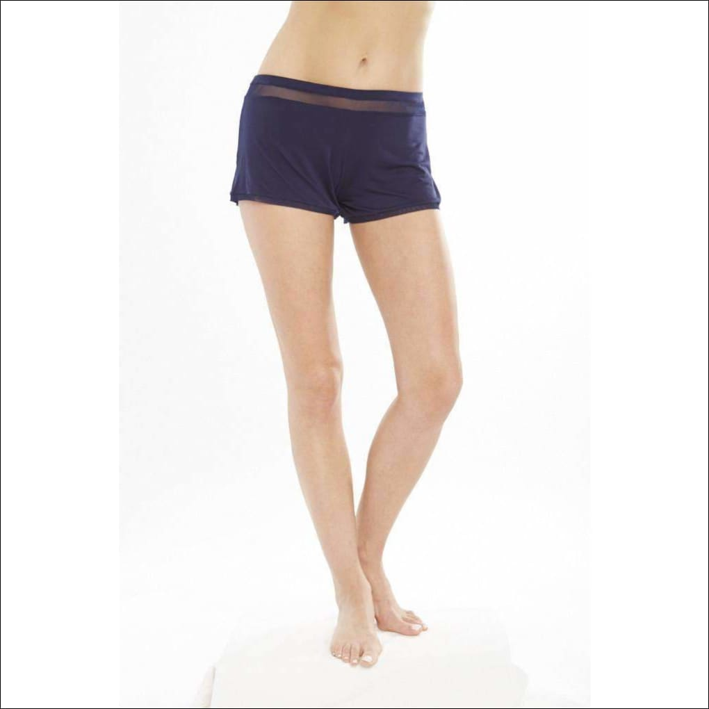 Addiction Douceur Shorts - Navy / Xs - Bottom Lingerie Theory Lingerietheory.com