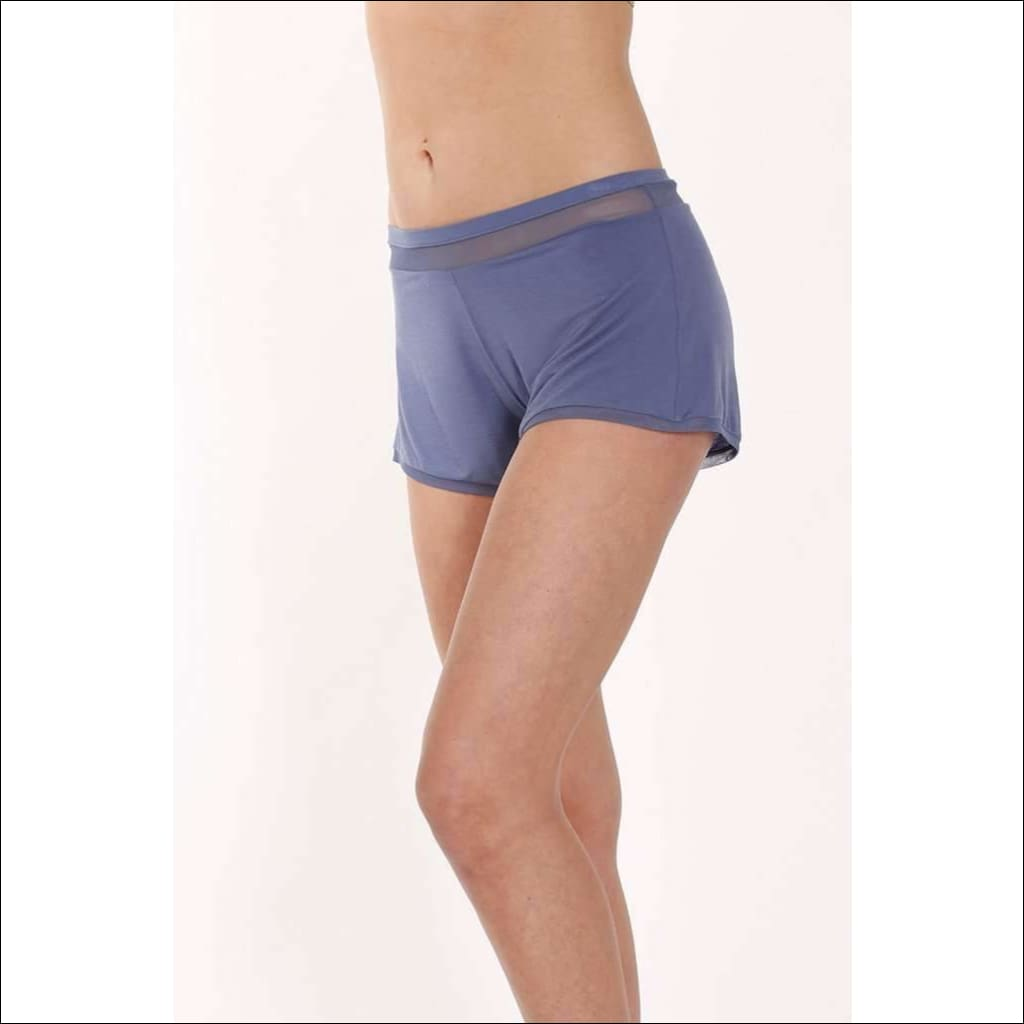 Addiction Douceur Shorts - Periwinkle / S - Bottom Lingerie Theory Lingerietheory.com