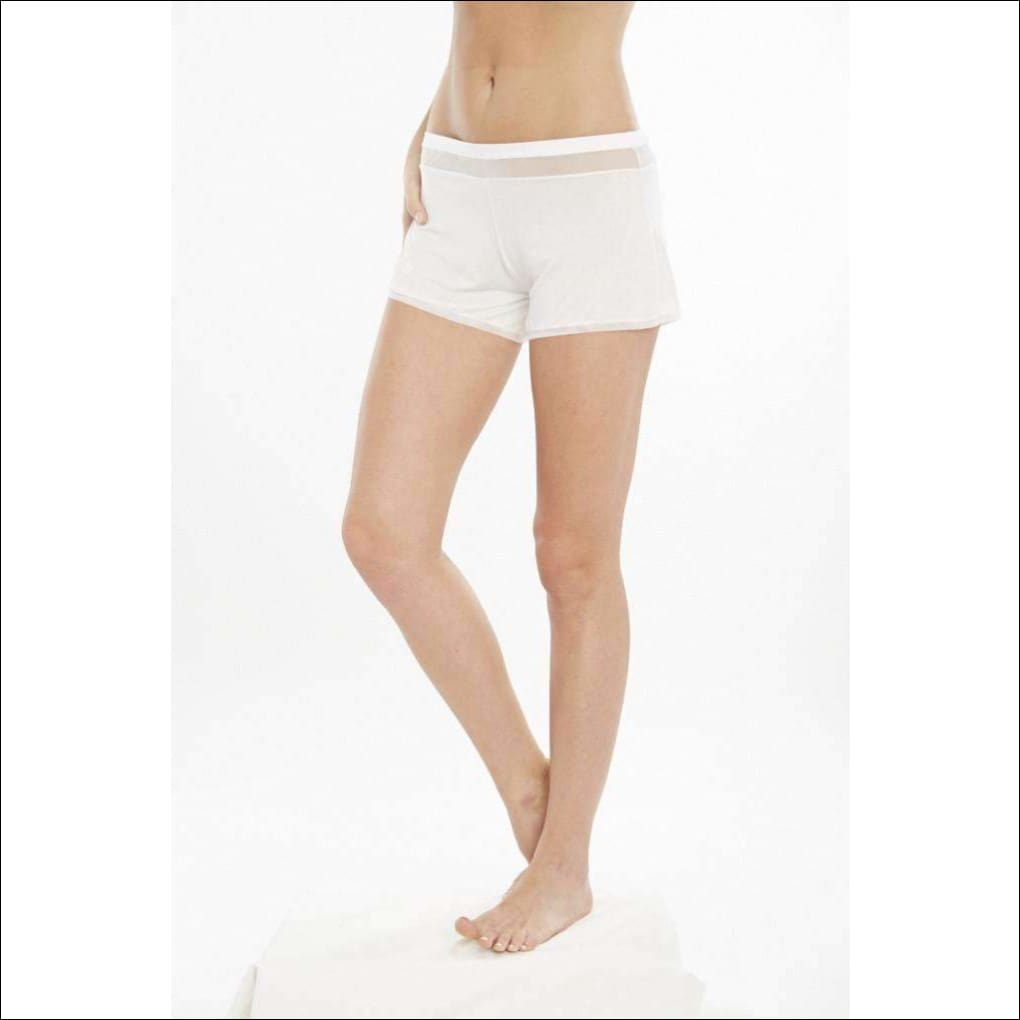Addiction Douceur Shorts - White / Xs - Bottom Lingerie Theory Lingerietheory.com