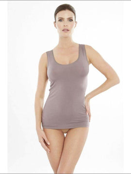 Addiction Douceur Tank Top - Taupe / Xs - Top Lingerie Theory Lingerietheory.com