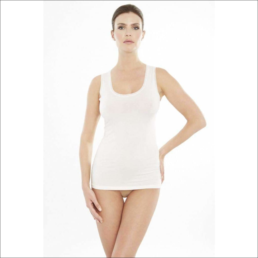 Addiction Douceur Tank Top - White / Xs - Top Lingerie Theory Lingerietheory.com